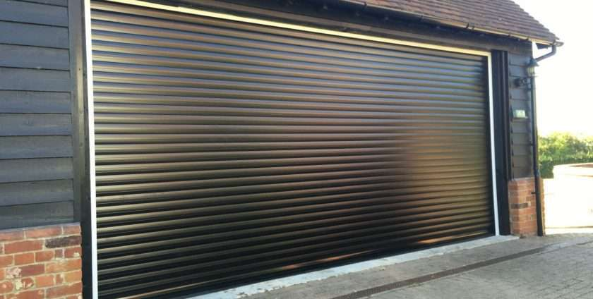 black roller garage door lincolnshire