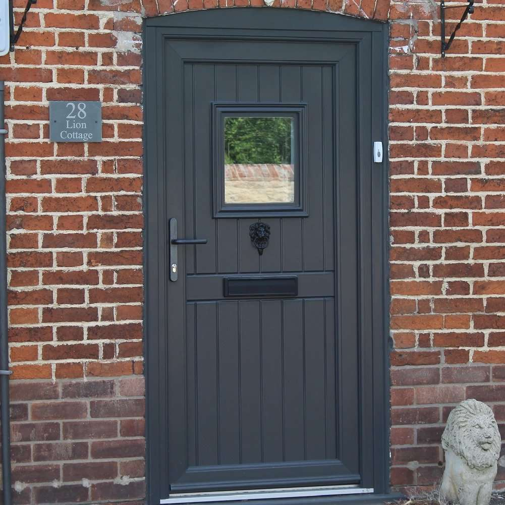 anthracite grey stable composite door installed lincoln