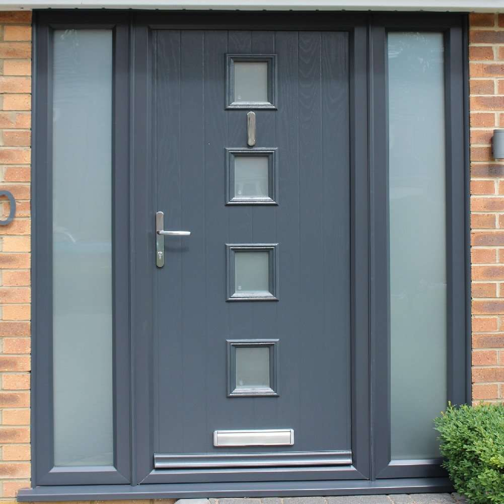 anthracite grey composite door fitted in lincoln